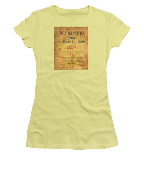 Key West To Havana Women's T-Shirt (Athletic Fit)