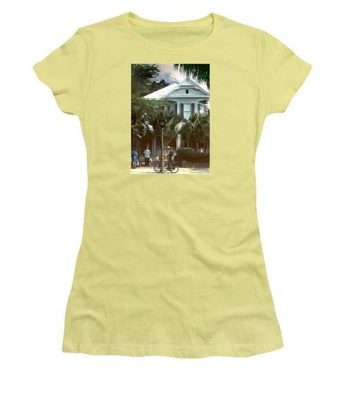 Women's T-Shirt (Junior Cut) featuring the photograph Keywest by Steve Karol