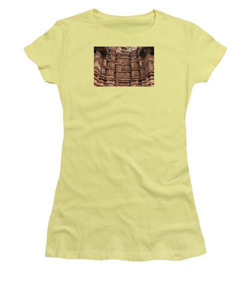Khajuraho Temples 2 Women's T-Shirt (Athletic Fit)