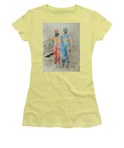 Kickin' It -- Black Children From 1930s Women's T-Shirt (Athletic Fit)