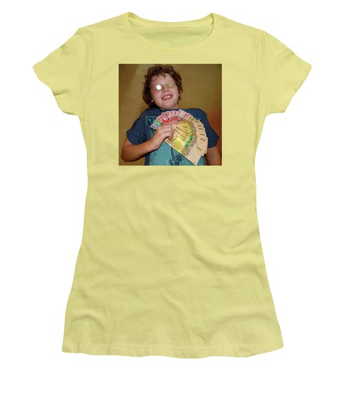 Kid With Money Women's T-Shirt (Junior Cut) by Exploramum Exploramum