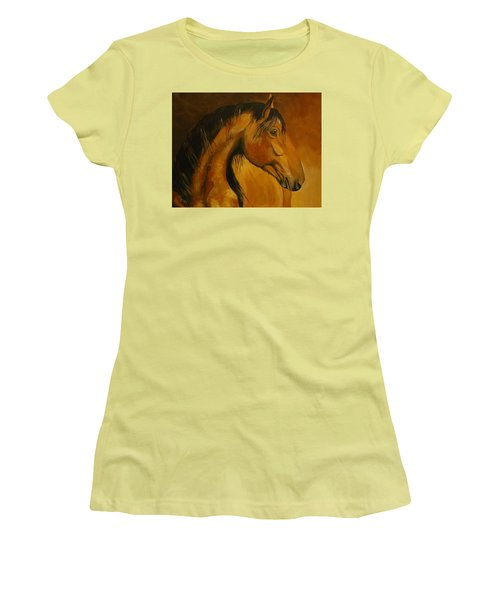 Kiger Sunrise Women's T-Shirt (Junior Cut) by Suzanne McKee