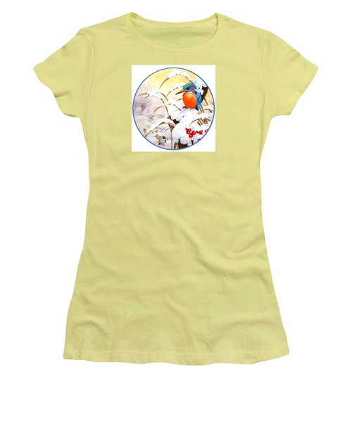 Kingfisher Plate Women's T-Shirt (Athletic Fit)