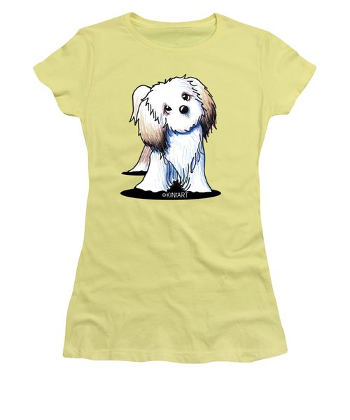Kiniart Lhasa Apso Women's T-Shirt (Athletic Fit)