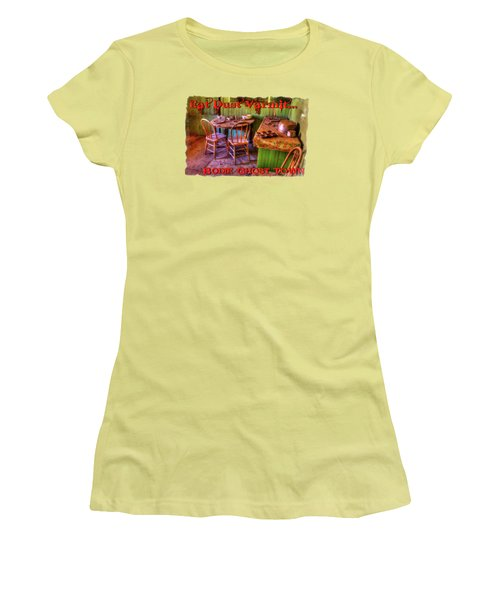 Kitchen Table Bodie California Women's T-Shirt (Athletic Fit)