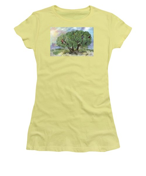 Kite Eating Tree Women's T-Shirt (Athletic Fit)