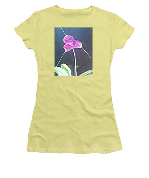 Kite Orchid Women's T-Shirt (Junior Cut) by Francine Heykoop