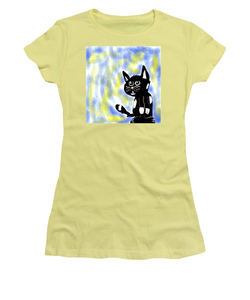 Kitty Kitty Women's T-Shirt (Junior Cut) by Paulo Guimaraes
