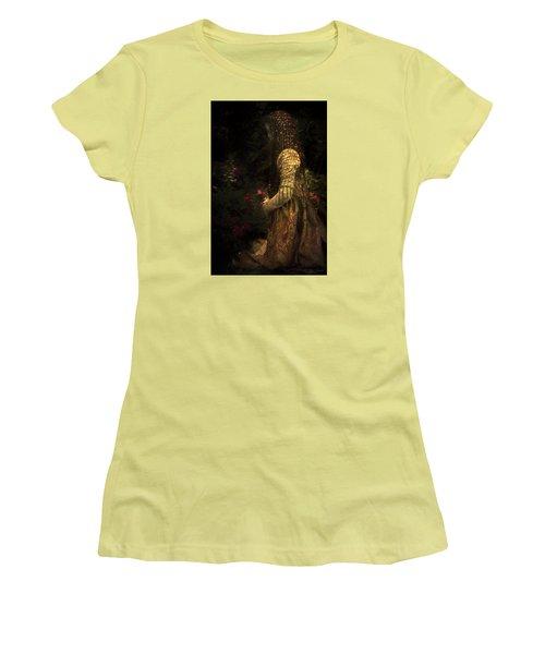 Kneeling In The Garden Women's T-Shirt (Athletic Fit)