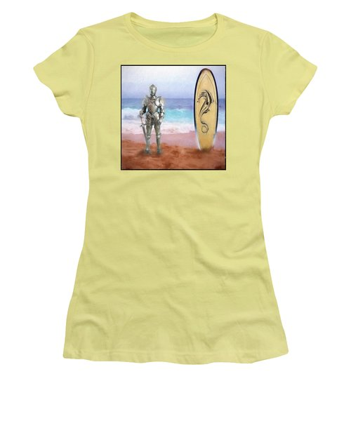 Women's T-Shirt (Junior Cut) featuring the painting Knights Landing by Michael Cleere
