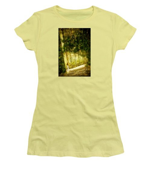 A Little Light Women's T-Shirt (Junior Cut) by Denis Lemay