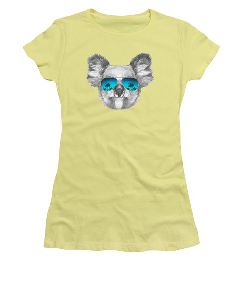 Koala With Mirror Sunglasses Women's T-Shirt (Athletic Fit)