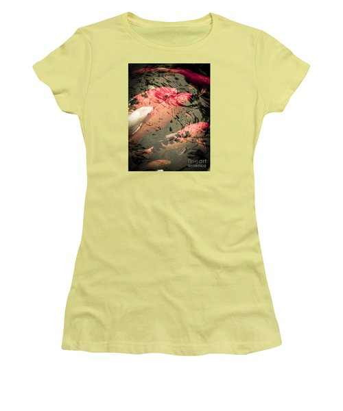 Koi Carps Women's T-Shirt (Junior Cut) by Perry Van Munster