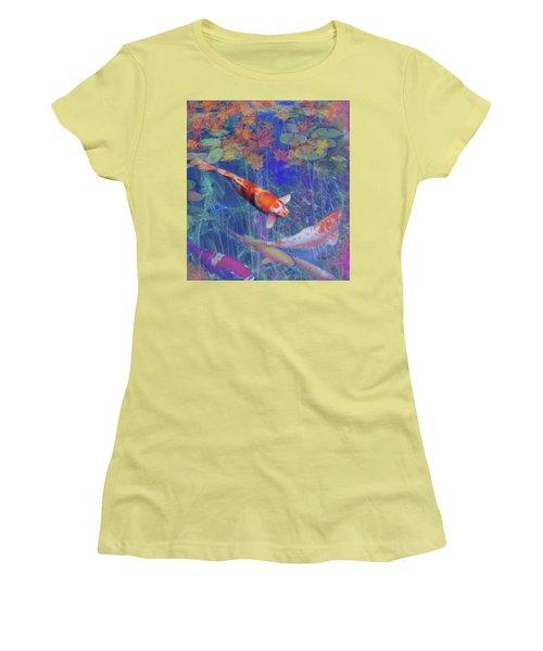 Koi Fish Pond Japanese Tea Garden  Women's T-Shirt (Athletic Fit)
