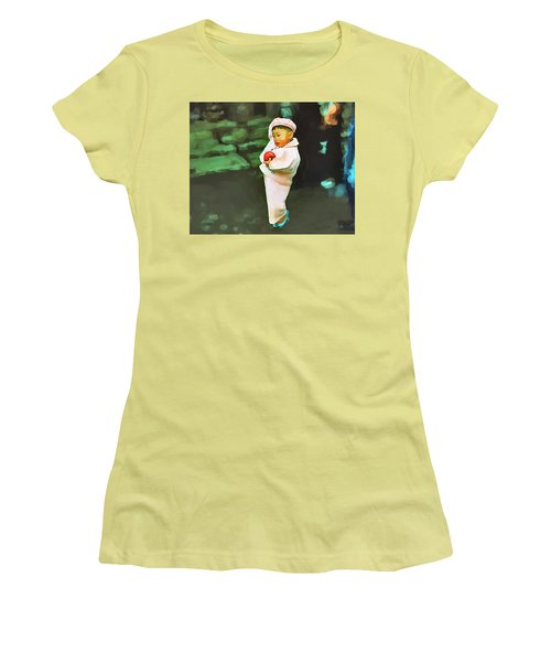 Women's T-Shirt (Junior Cut) featuring the photograph Korean Pink by Dale Stillman