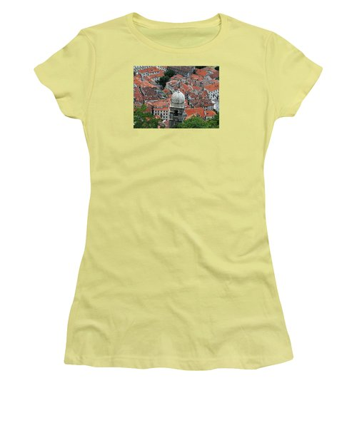 Kotor Rooftops Women's T-Shirt (Athletic Fit)