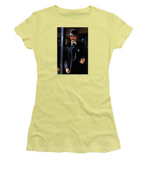 Kurt Russell As Wyatt Earp Tombstone Arizona 1993-2015 Women's T-Shirt (Athletic Fit)