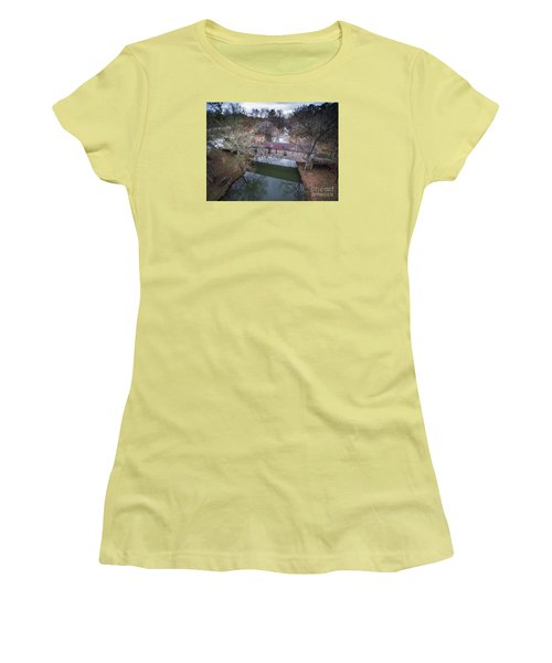 Kymulga Covered Bridge Aerial 2 Women's T-Shirt (Athletic Fit)
