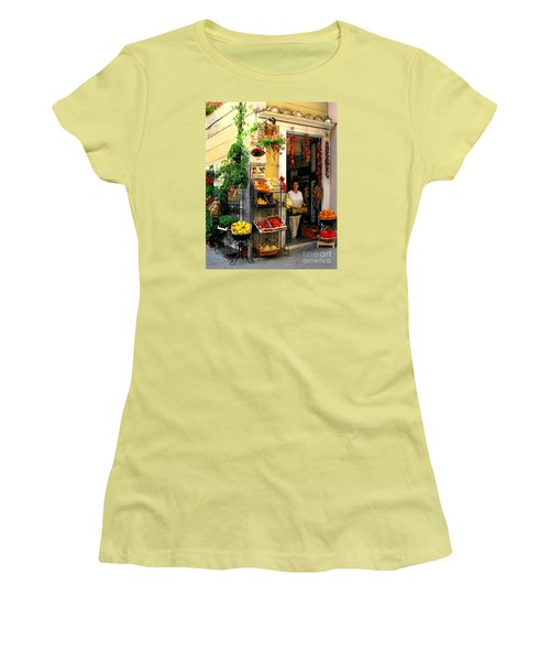 L Argogo Di Adriana  Minori Women's T-Shirt (Junior Cut) by Jennie Breeze