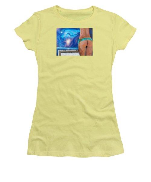 La Bailarina Women's T-Shirt (Junior Cut) by Angel Ortiz