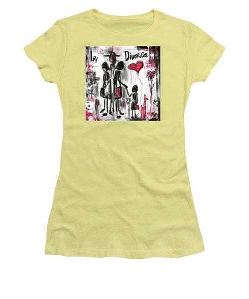 La Divorce  Women's T-Shirt (Athletic Fit)