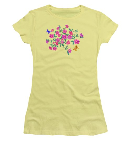 La Vie En Rose Design Women's T-Shirt (Athletic Fit)