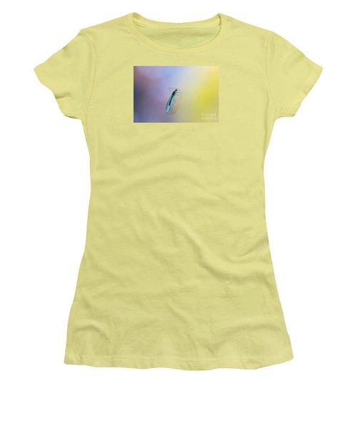 Women's T-Shirt (Junior Cut) featuring the photograph Lace Beauty by Jivko Nakev