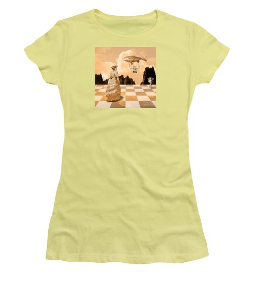 Women's T-Shirt (Junior Cut) featuring the drawing Lady by Alexa Szlavics