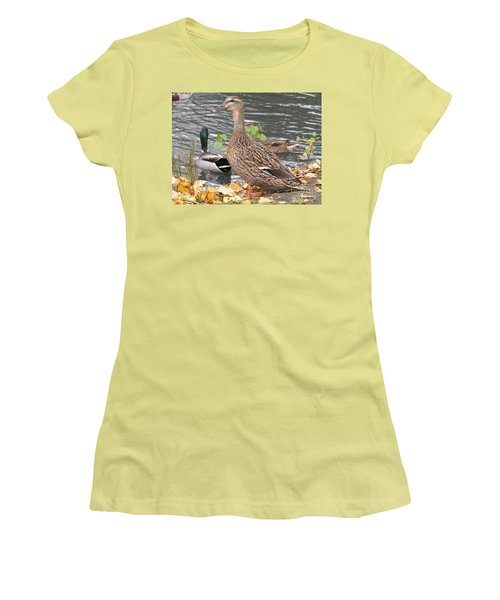Lady Duck Women's T-Shirt (Athletic Fit)