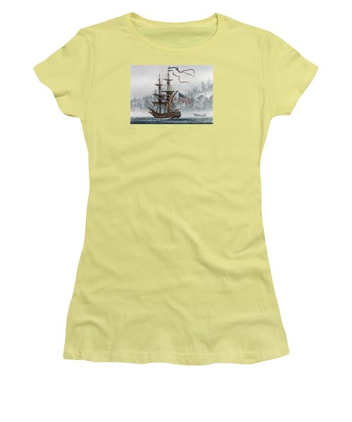 Lady Washington Women's T-Shirt (Junior Cut) by James Williamson