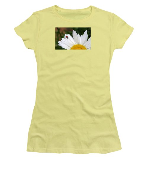 Ladybug On Flower Women's T-Shirt (Junior Cut)
