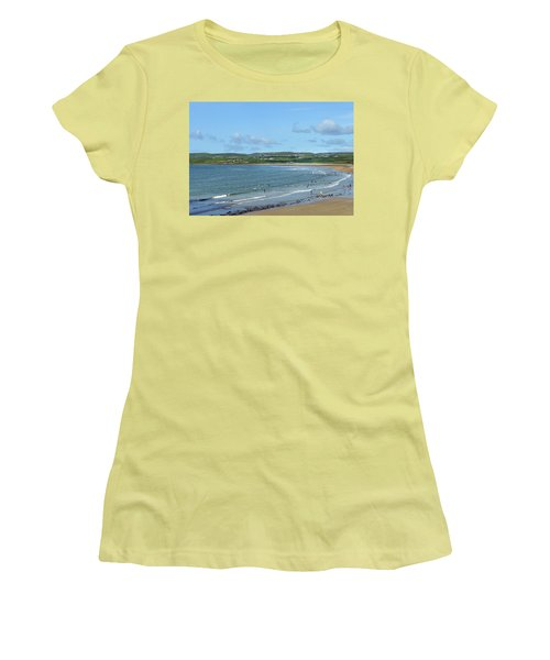 Women's T-Shirt (Junior Cut) featuring the photograph Lahinch Beach by Terence Davis