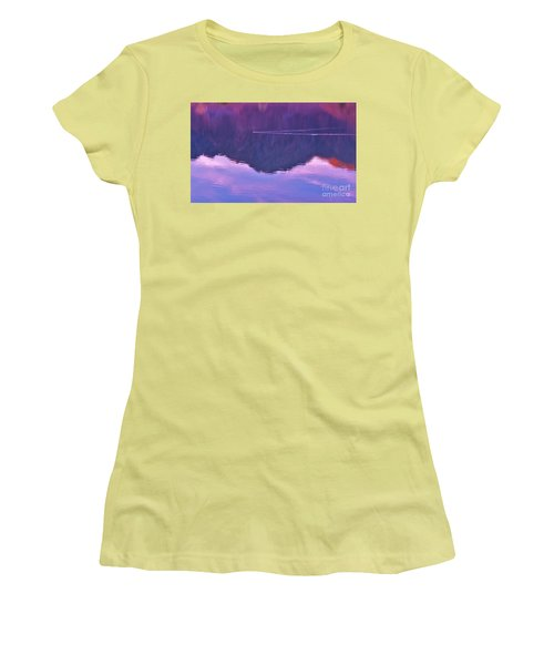 Lake Cahuilla Reflection Women's T-Shirt (Junior Cut) by Michele Penner