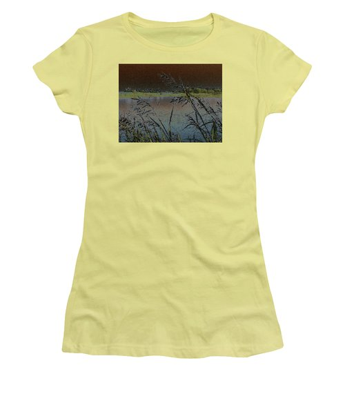 Lake  Women's T-Shirt (Junior Cut) by Donna G Smith