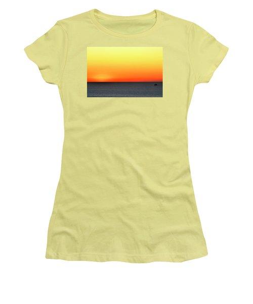 Lake Michigan Sunrise Women's T-Shirt (Junior Cut) by Zawhaus Photography