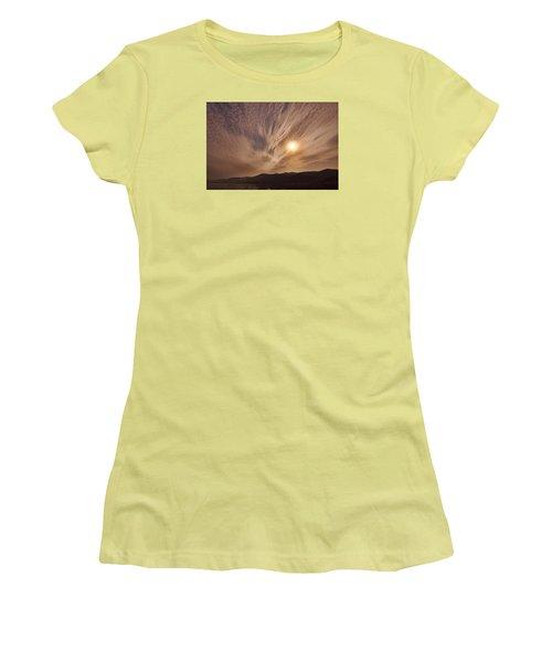 Lake Roosevelt Washington Women's T-Shirt (Junior Cut) by Loni Collins