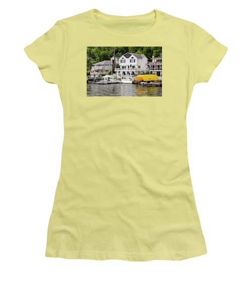 Lakefront Living Hopatcong Women's T-Shirt (Junior Cut) by Maureen E Ritter
