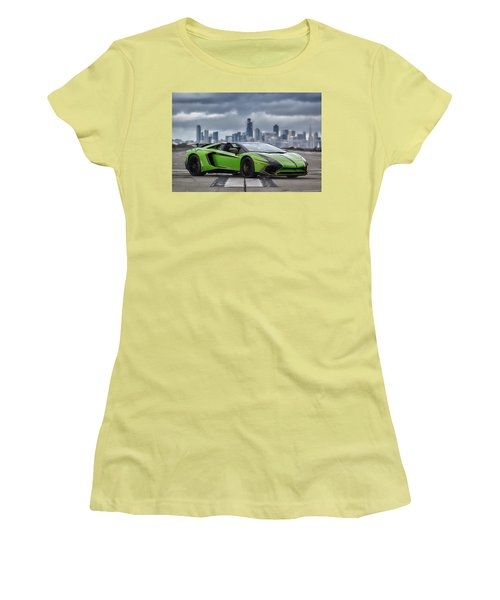 #lamborghini #aventadorsv #superveloce #roadster #print Women's T-Shirt (Athletic Fit)