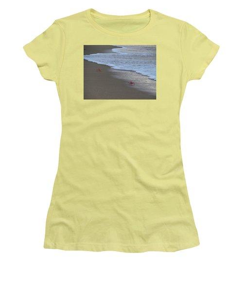 Lamu Island - Crabs Playing At Sunset 4 Women's T-Shirt (Junior Cut) by Exploramum Exploramum