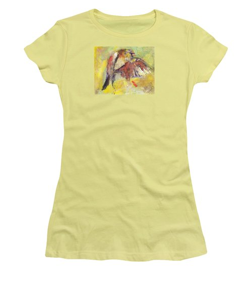 Landing On The Rainbow Women's T-Shirt (Athletic Fit)