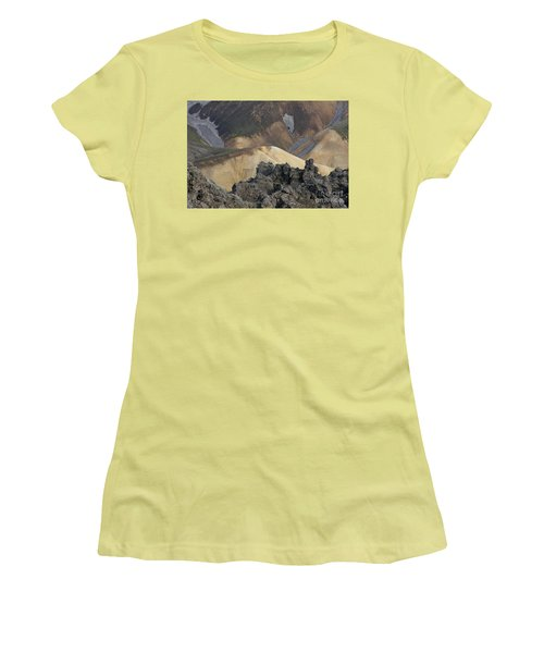 Landmannalaugar Iceland 3 Women's T-Shirt (Athletic Fit)