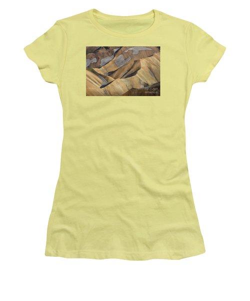 Landmannalaugar Natural Art Iceland Women's T-Shirt (Junior Cut) by Rudi Prott
