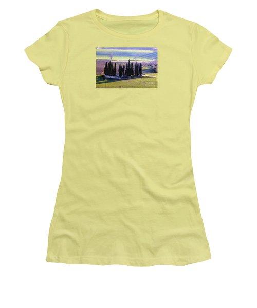 Women's T-Shirt (Junior Cut) featuring the photograph Landscape by Jean Bernard Roussilhe