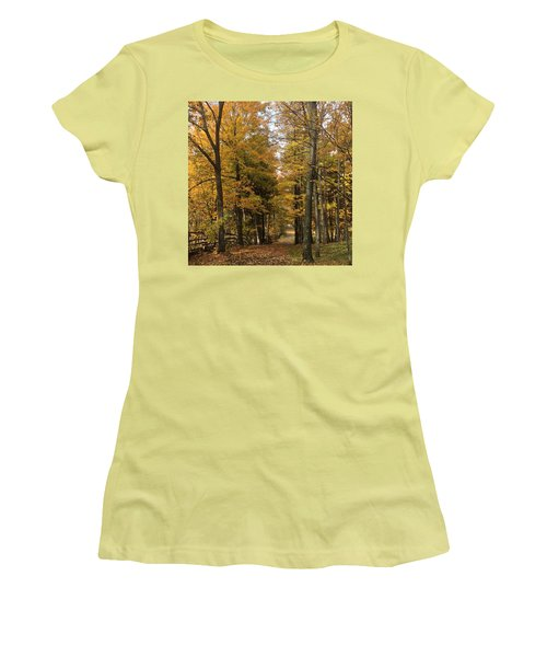Women's T-Shirt (Junior Cut) featuring the photograph Lane by Pat Purdy