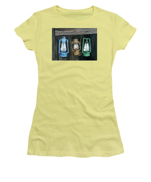 Lanterns Women's T-Shirt (Junior Cut) by Ferrel Cordle