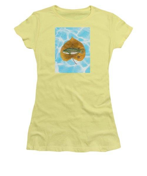Large Mouth Bass #2 Women's T-Shirt (Junior Cut) by Ralph Root