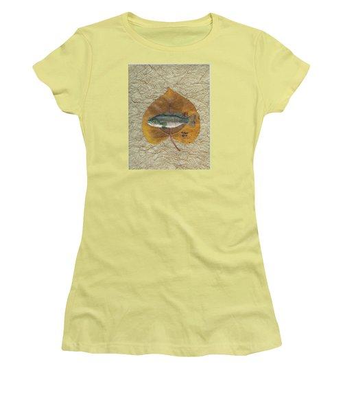 Large Mouth Bass #3 Women's T-Shirt (Junior Cut) by Ralph Root