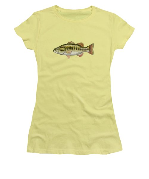 Largemouth Bass Women's T-Shirt (Junior Cut) by Serge Averbukh