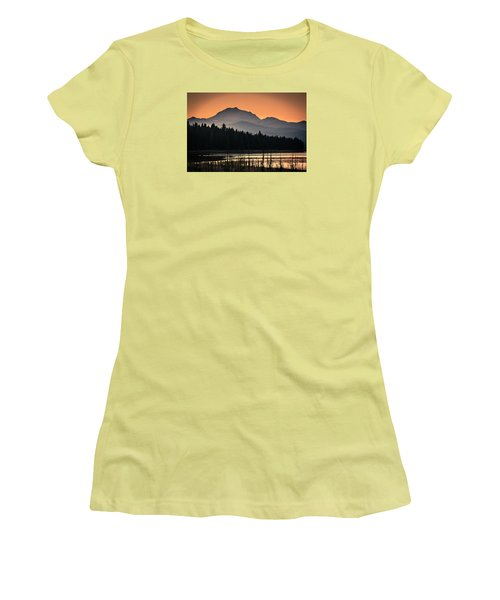 Lassen In Autumn Glory Women's T-Shirt (Athletic Fit)