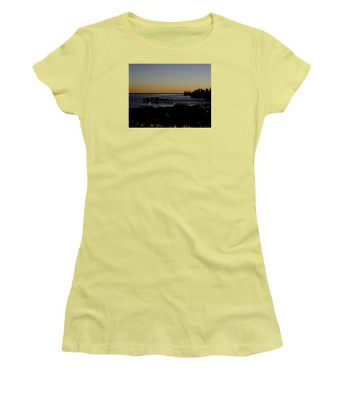 Women's T-Shirt (Junior Cut) featuring the photograph Last 2015 Sunset by Lora Lee Chapman
